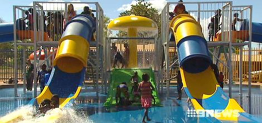 Photo of the waterslides (Nine News)
