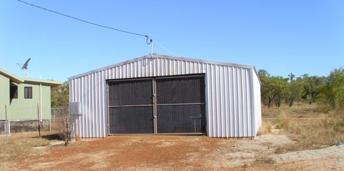 Ready for opening. The community-built Alawa training shed