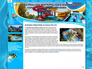 The older non-mobile friendly Waterslide website